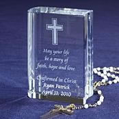 Glass Religious Cross Gift