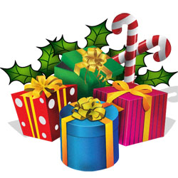 Christmas Presents.Clipart Christmas Presents Ribbons