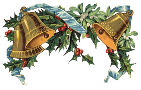 Vintage Christmas Bells Clipart