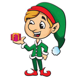 Santa and Elves Modern Clipart - ChristmasGifts.com