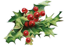 Christmas Holly Clip Art.Free Christmas Clipart Vintage Holly Christmas Gifts