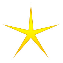 Christmas Star - five point gold