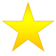 Christmas Star - five-point golden
