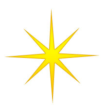Christmas Star - eight-point gold