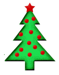 Small Green Christmas Tree with Red Ornaments