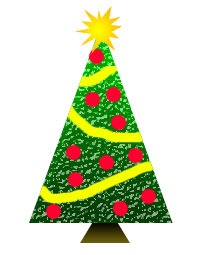 Tree with Christmas Decorations