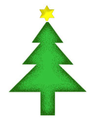 Christmas Tree - Simple Design in Green