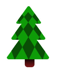 Christmas Tree - Checkered Green
