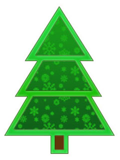 Christmas Tree - Snowflake pattern