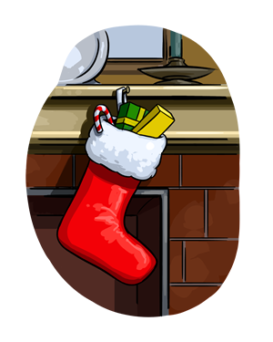 Stocking Above Fireplace