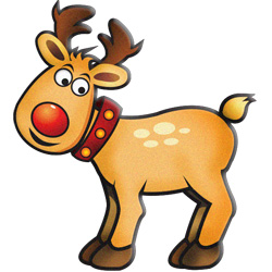 Reindeer and Rudolf Modern Clipart - ChristmasGifts.com