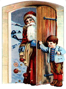 Vintage - Santa Claus at the door