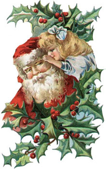 Vintage - Santa Claus wreath