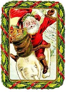 Vintage - Santa Claus Framed