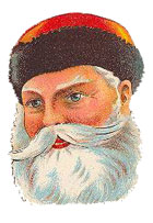 Vintage - Santa Claus portrait red hat