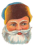 Santa Claus portrait blue hat