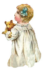 Vintage - Girl with Teddy Bear