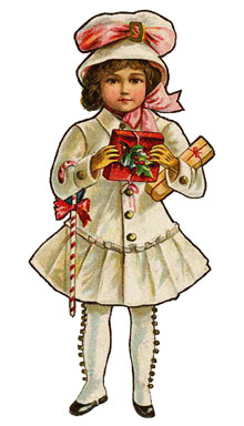 Vintage Young Girl Clipart