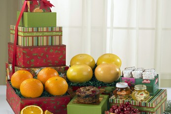 """A Towering Indulgence"" Fruit Gift Set"