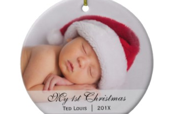 Baby's First Christmas Photo Ornament