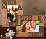 Because Of You Personalized Frame – 4×6