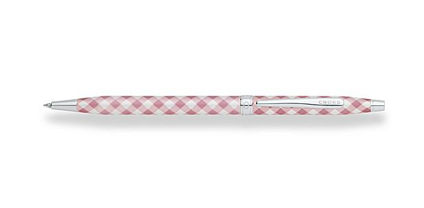 Century Colors Tender Rose Gingham Ballpoint Pen