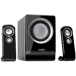 Coby CSMP80 2.1 Speaker System - Black