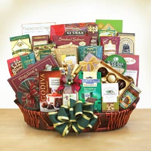 Corporate extravaganza gift basket christmas gifts