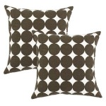 Dotscape Brown Pillows, Set of Two
