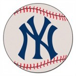 New York Yankees Baseball Shaped Rug