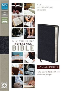 Niv Thinline Reference Bible, Large Print Bonded Leather Black Leather