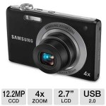 Samsung Digital Camera 2.7 inch LCD, Black