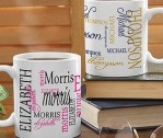 11 or 15 oz Signature Style Personalized Coffee Mug