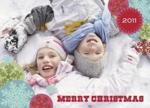 Snowflake Circle Christmas - PAPYRUS Cards - Photo Christmas Card