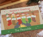 Stocking Family Characters Personalized Standard Doormat