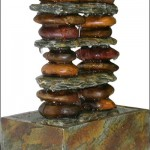 Stone Tower Tabletop Fountain