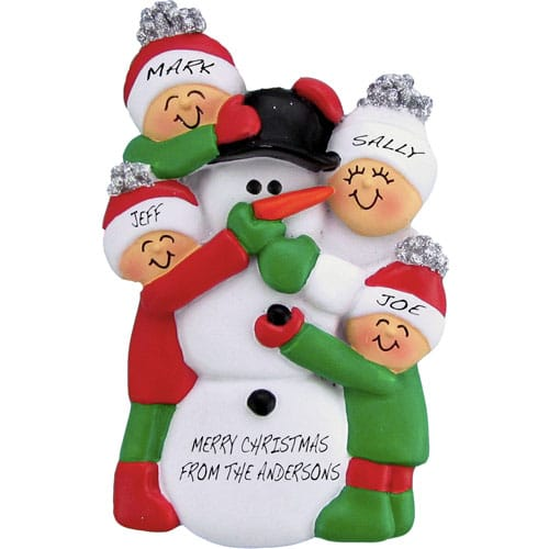 Snowman Family Personalized Christmas Ornament   Christmas Gifts eTlTIHvk