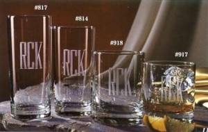 Personalized drink glasses