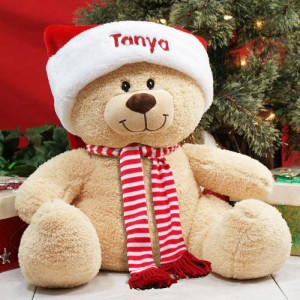 "Embroidered 17"" Sherman Holiday Teddy Bear"