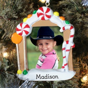 Gingerbread Photo House Engraved Christmas Ornament