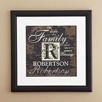 Family Initial Framed Print