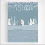 Personalized Winter Scene Wall Art