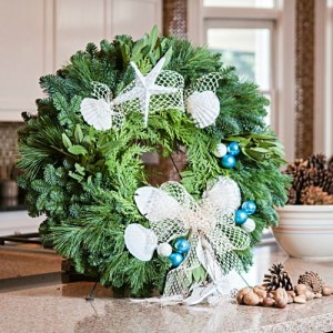 Sandals and Seashells Wreath