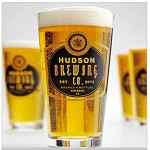 Set of 4 Personalized Barley Pub Glasses