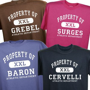 Personalized-Property-Of-Athletic-T-Shirt