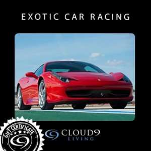 Exotic car gift certificate