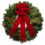 Cascade Christmas Wreath