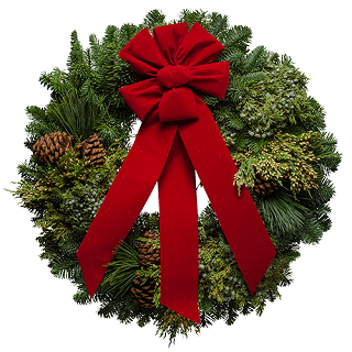 Cascade Christmas Wreath