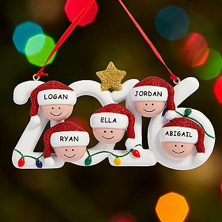 2016 Family Holiday Personalized Ornament