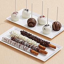 4 Dipped Pretzels & 6 Assorted Cake Pops